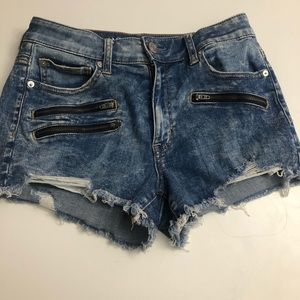 Cute distressed jean shorts